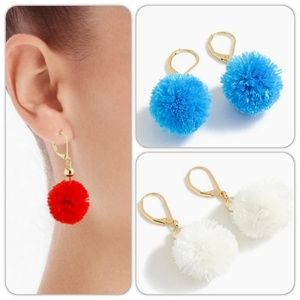 ✨Earring Bundle✨ J.Crew Pom Earrings